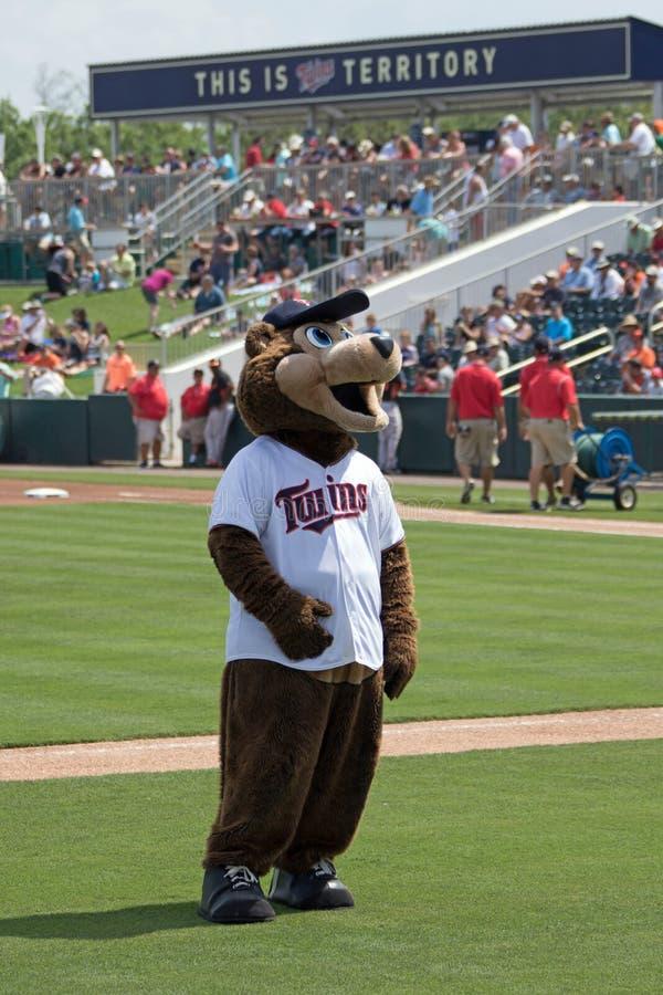 TC - Das Maskottchen der Minnesota Twins stockfotografie