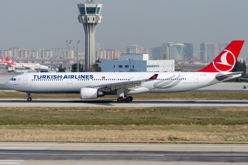 Tc-JOC, Turkish Airlines-Luchtbus A330-303 GOBEKLITEPE stock afbeelding