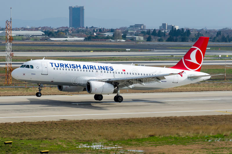 TC-JPK Turkish Airlines Airbus A320-232 ERDEK fotos de archivo libres de regalías