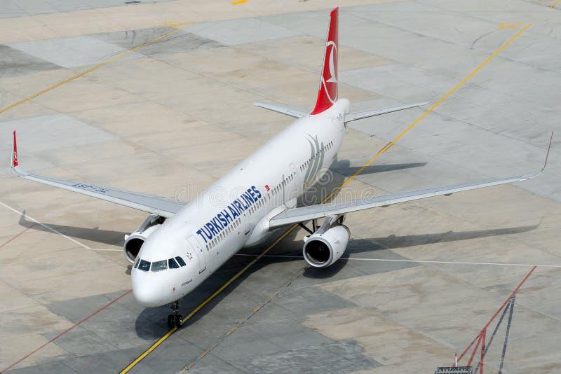 TC-JST Turkish Airlines, Airbus A321-231 nombrado DIYARBAKIR fotografía de archivo libre de regalías