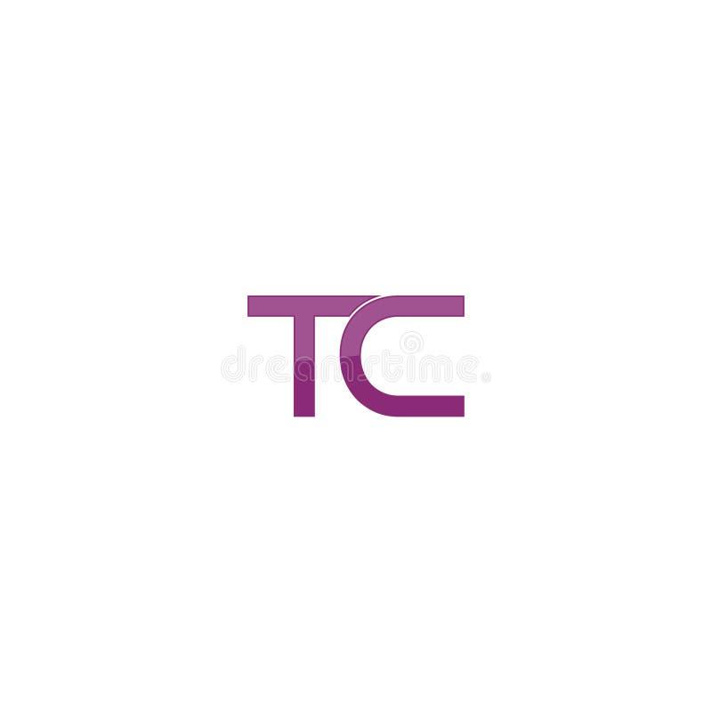 TC letter modern abstract alphabet company logo design vector icon template stock illustration