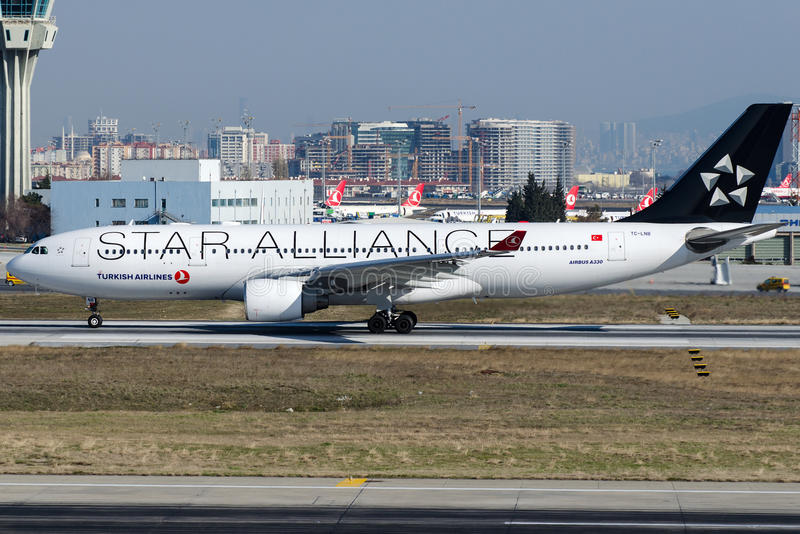 TC-LNB Turkish Airlines, airbus A330-223 στοκ εικόνα
