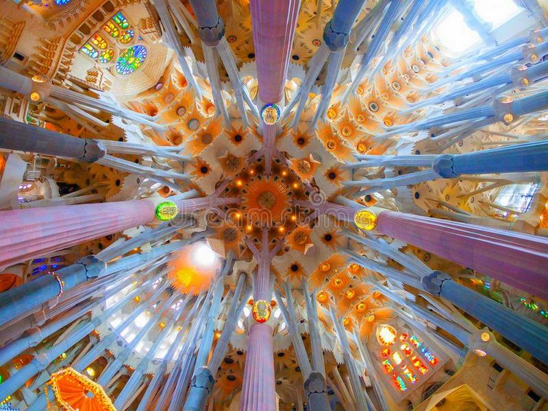 Barcelona Cathedral amazing view stock photography
