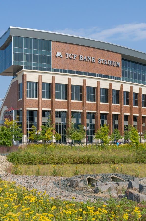 TCF-Bank-Stadion auf dem Campus der Universität von Minnesota lizenzfreies stockbild