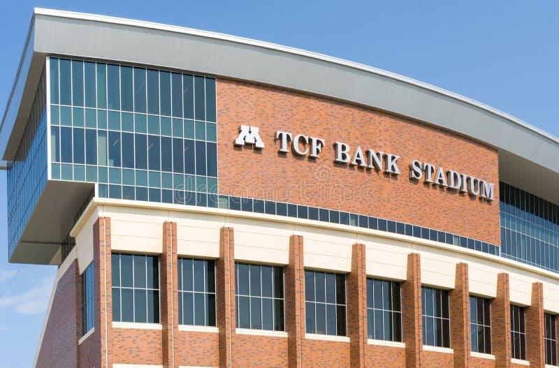TCF-Bank-Stadion auf dem Campus der Universität von Minnesota lizenzfreie stockfotos