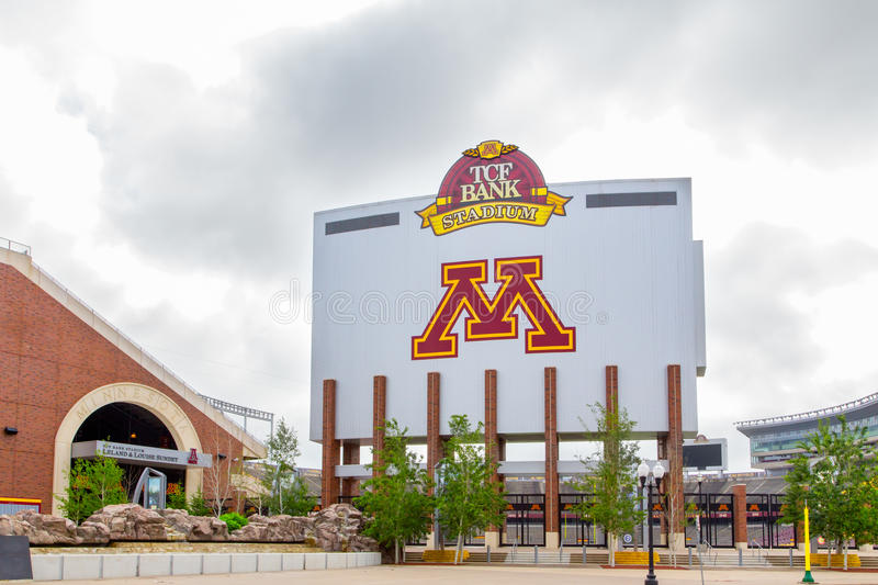 TCF Bank Stadium. MINNEAPOLIS, MN/USA - JUNE 24, 2014: TCF Bank Stadium on the campus of the University of Minnesota. TCF Bank is an outdoor stadium and home to stock photography