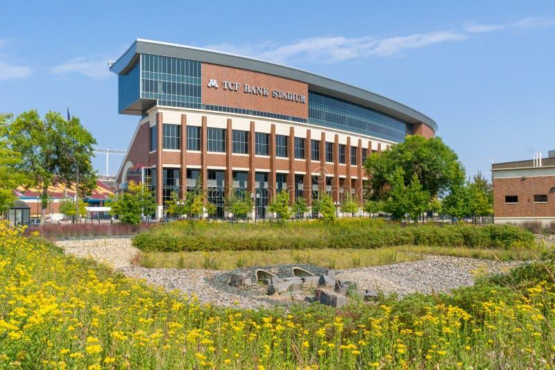 TCF-Bankstadion op de Campus van de Universiteit van Minnesota stock fotografie