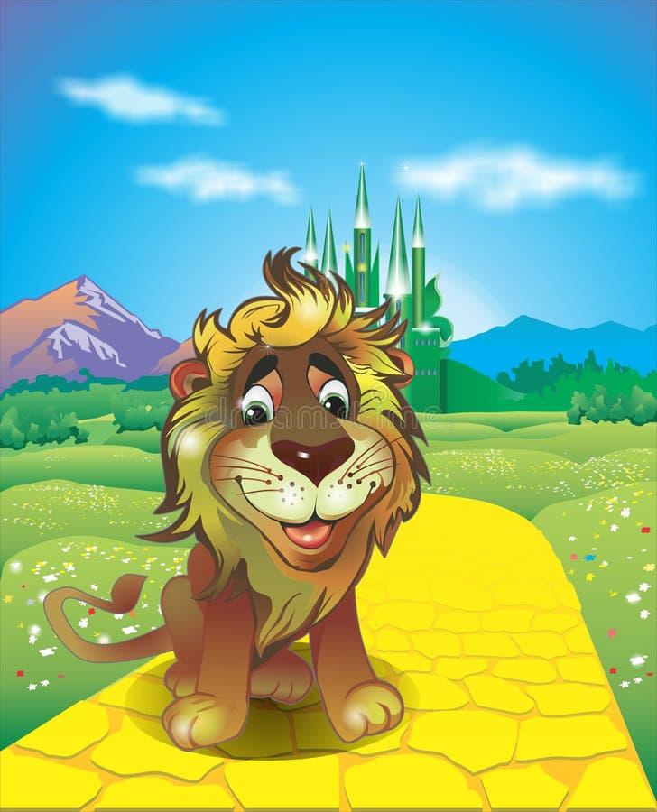 Tchórzliwy lew ilustracji
