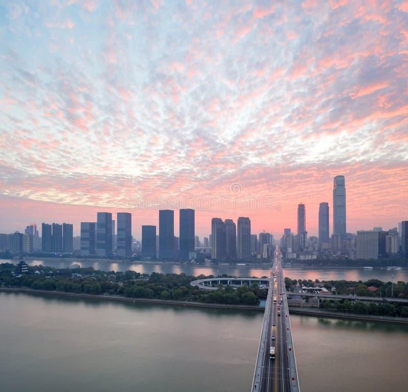 Tchang-cha dans le lever de soleil photographie stock