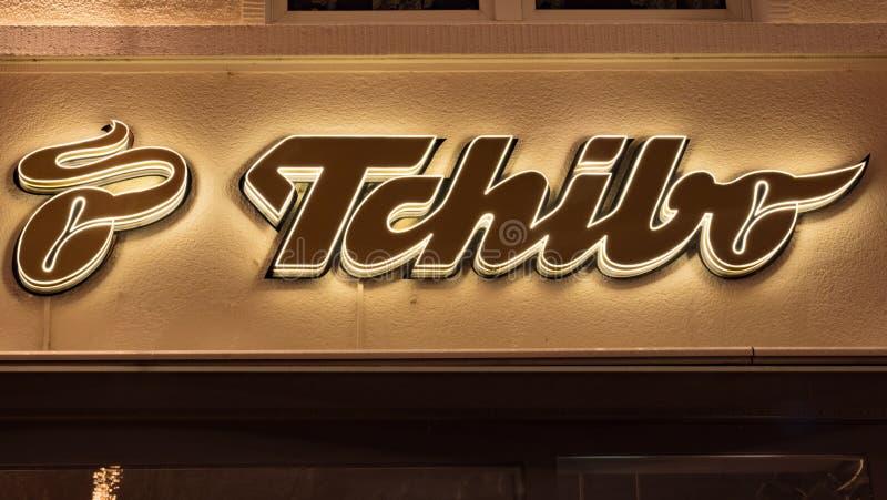 TCHIBO被阐明的略写法  库存图片