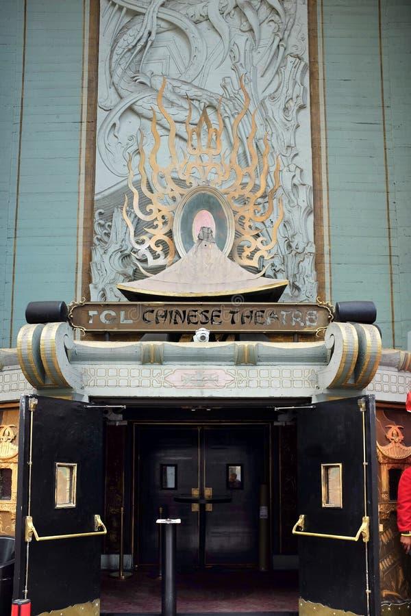TCL Chiński Theatre jest filmu pałac na historycznym Hollywood spacerze sława fotografia royalty free
