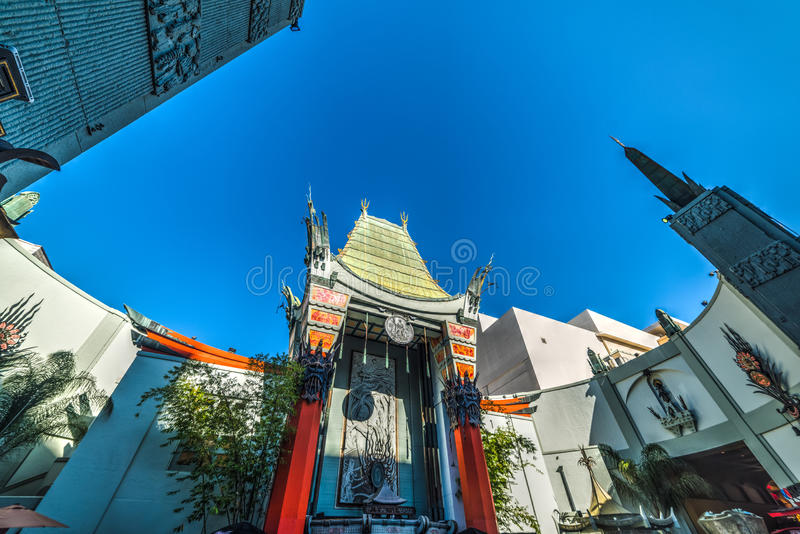 TCL Chinese Theater in Hollywood boulevard. Los Angeles, CA, USA - November 02, 2016: TCL Chinese Theater in Hollywood boulevard royalty free stock photo