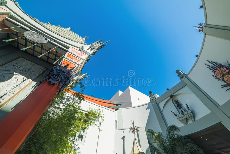 TCL Chinese Theater in Hollywood. Los Angeles, CA, USA - November 02, 2016: TCL Chinese Theater in Hollywood royalty free stock images