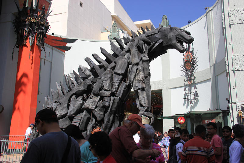 TCL Chinese Theater. Los Angeles, California, USA - May 19, 2014: TCL Chinese Theater, a famous cinema on the historic Hollywood Walk of Fame on Hollywood stock images