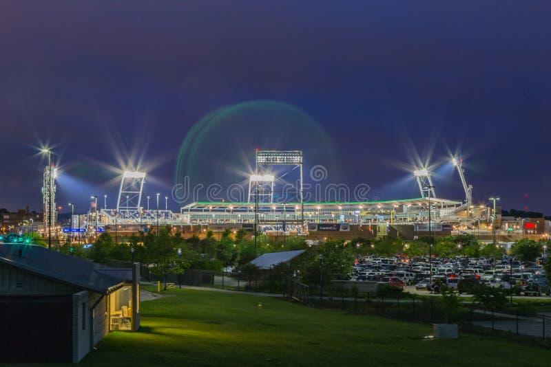 TD Ameritrade balowy park przy nocą fotografia stock