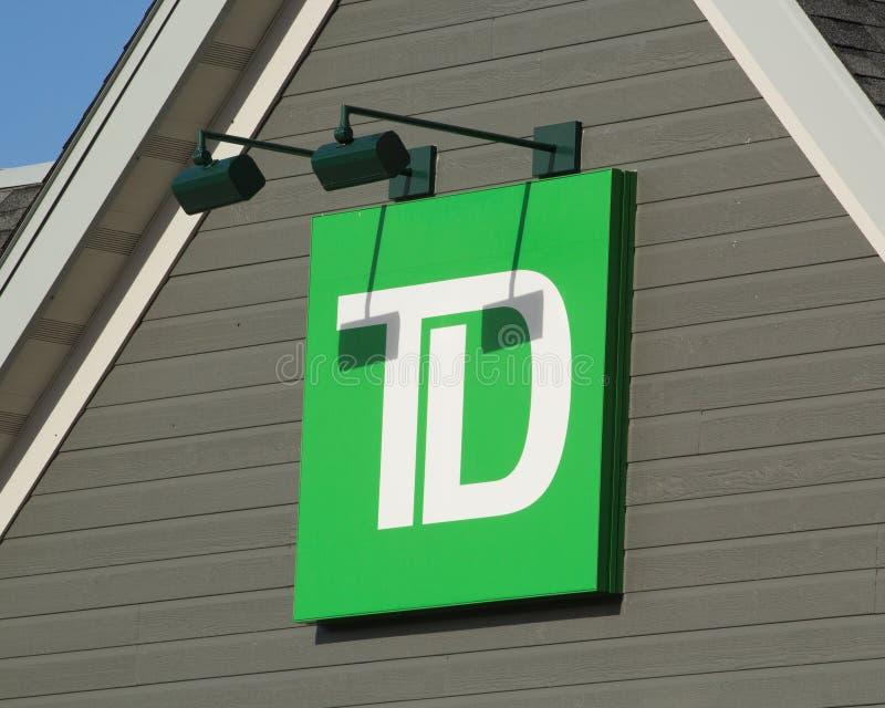 TD bank royalty-vrije stock afbeeldingen