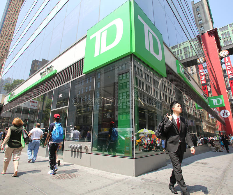 TD-BANK IN NEW YORK lizenzfreies stockbild