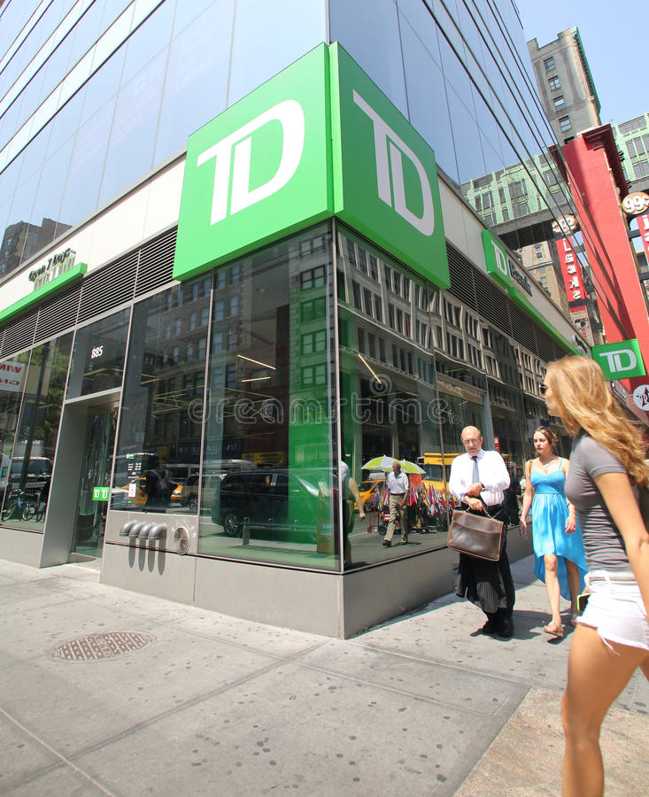 TD-BANK IN NEW YORK stockfotografie