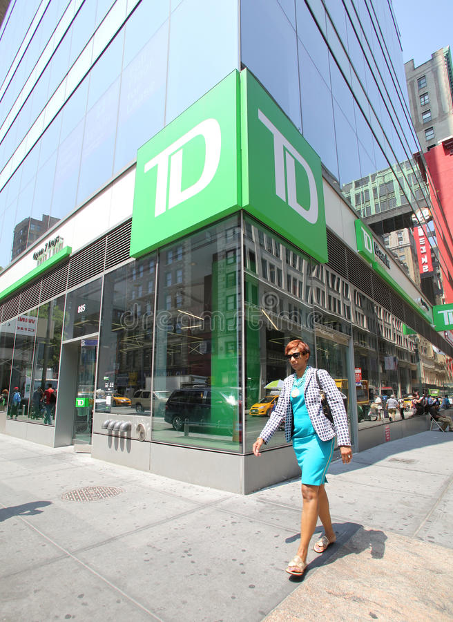TD-BANK IN NEW YORK lizenzfreies stockfoto