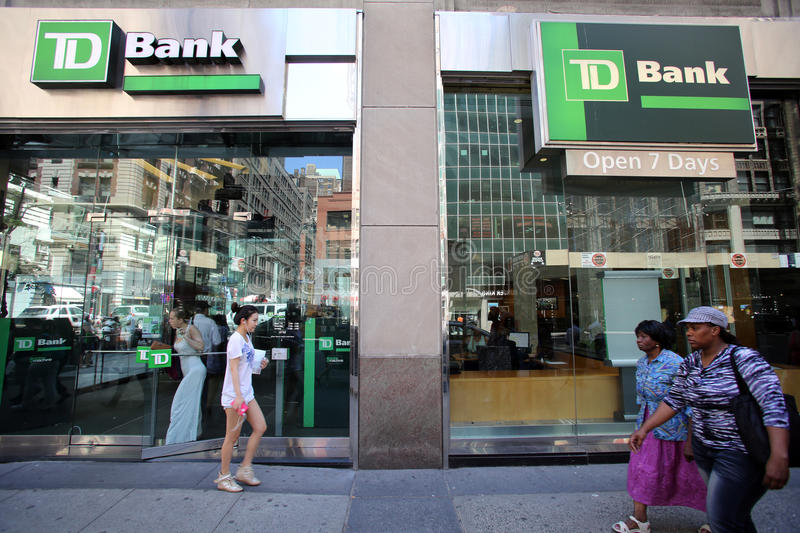 TD-BANK IN NEW YORK lizenzfreie stockfotos
