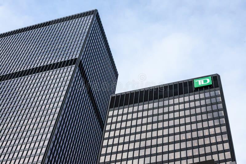 TD Bankembleem voor hun tak voor Toronto, Ontario royalty-vrije stock foto