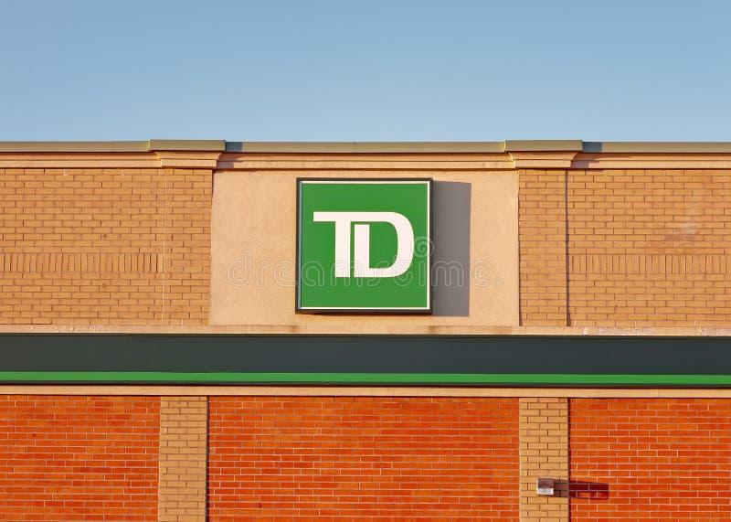 TD de Buitenkant van de Banktak stock fotografie