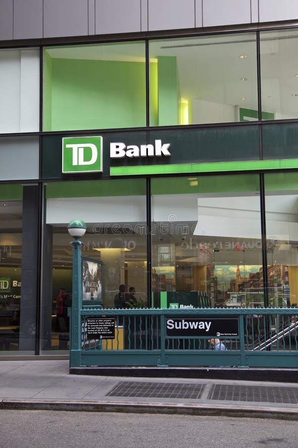 TD haben ein Bankkonto stockfoto