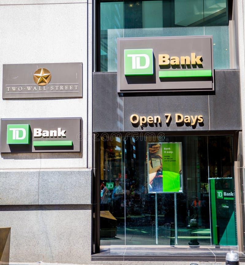 TD haben ein Bankkonto lizenzfreie stockbilder