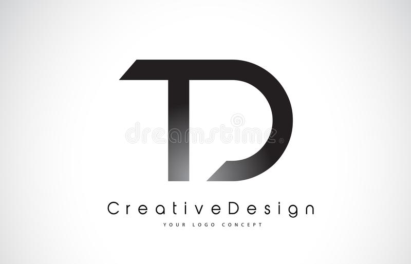 Td T D Letter Logo Design Creative Icon Modern Letters Vector L