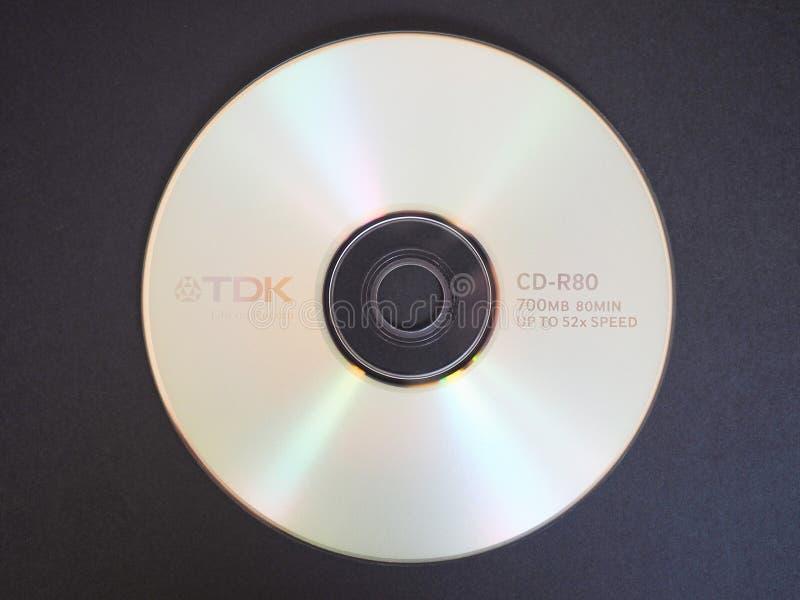 TDK CD royaltyfri fotografi