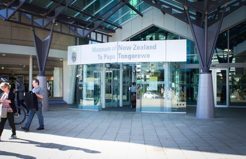 Te爸爸博物馆,惠灵顿,新西兰 免版税库存图片