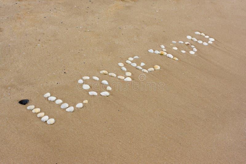 Te Amo En La Arena De La Playa: Te Amo En Arena Foto De Archivo. Imagen De Fondo, Extracto