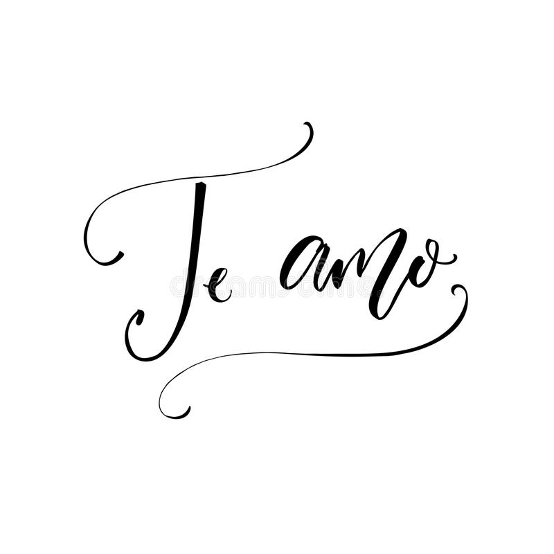 Te Amo - I Love You In Spanish Language. Modern ...