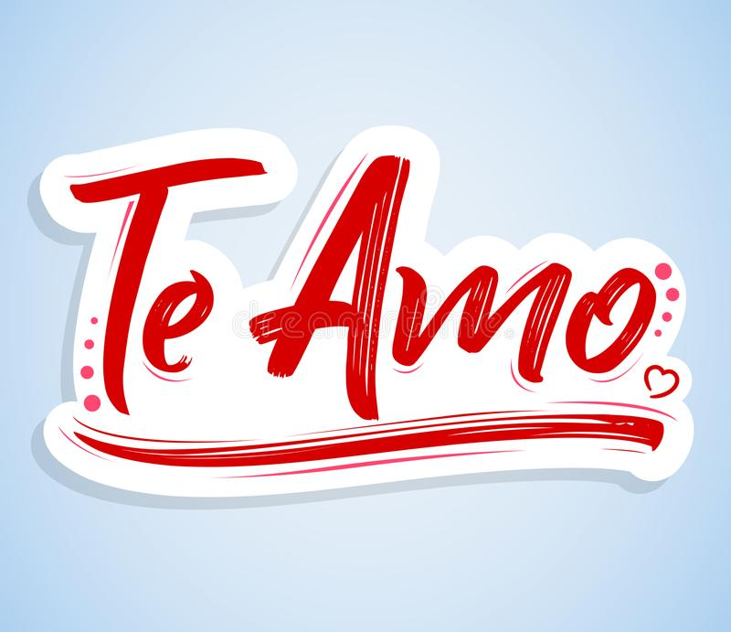 Te amo i love you spanish text vector lettering design stock download te amo i love you spanish text vector lettering design stock vector altavistaventures Choice Image