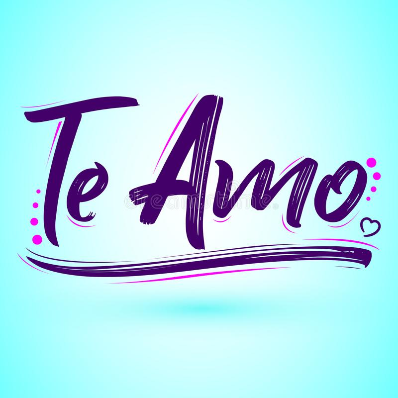 Te amo i love you spanish text vector lettering design stock download te amo i love you spanish text vector lettering design stock vector thecheapjerseys Choice Image