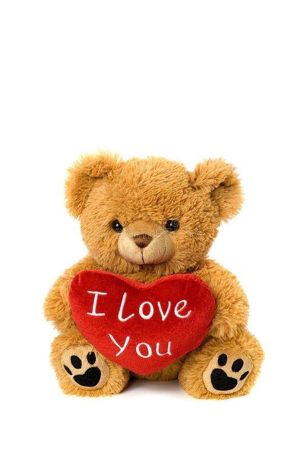 Te amo oso de la tarjeta del día de San Valentín fotos de archivo