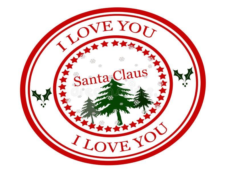 Te amo Santa Claus stock de ilustración