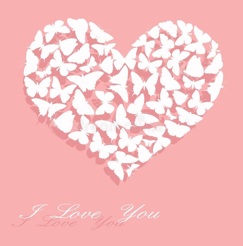 Te amo. Tarjeta del día de tarjeta del día de San Valentín libre illustration