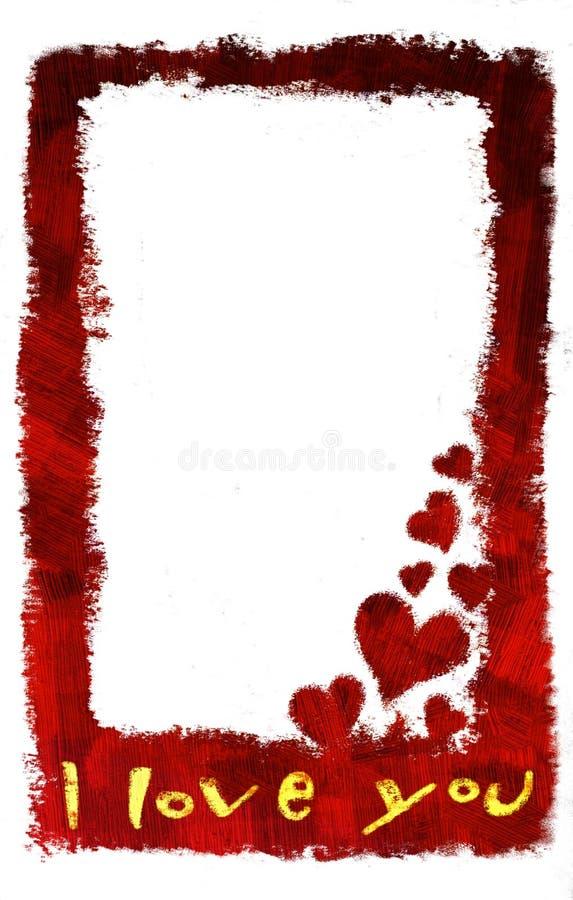 Te amo tarjeta (vertical) libre illustration