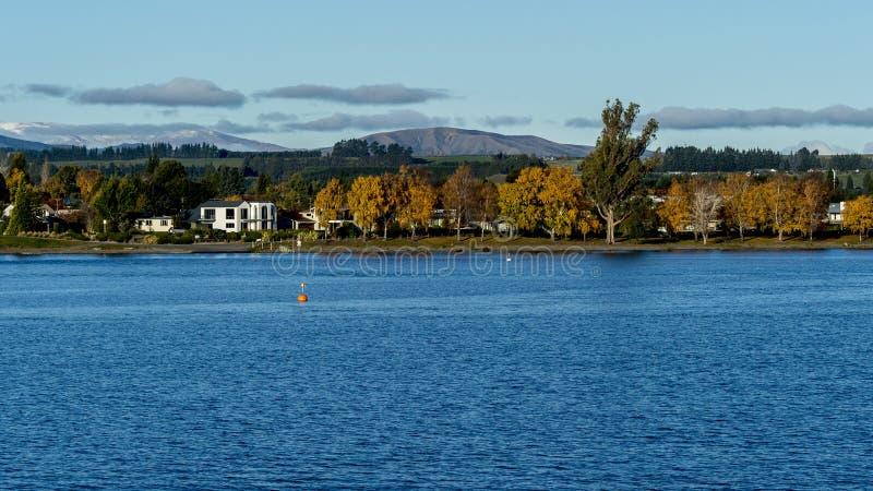 Te Anau Lake stockfoto