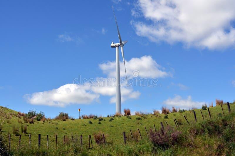 Te Apiti Wind Farm in Palmerston-het Noorden, Nieuw Zeeland stock foto