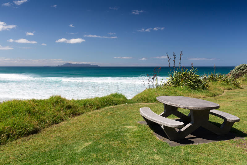 Te Arai Beach stockbilder