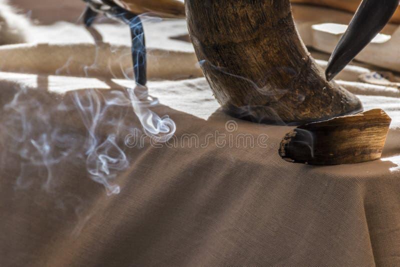 Te aromatiseren sandelhout royalty-vrije stock foto's