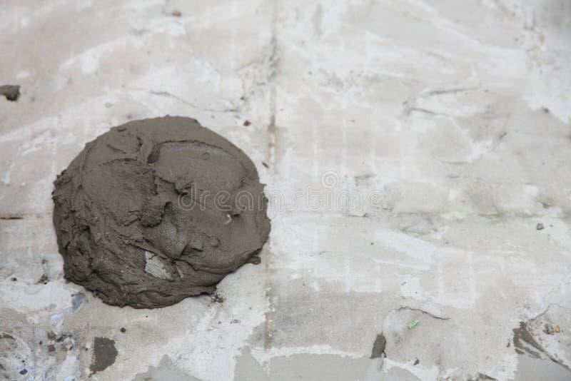 Te astratto del fondo dell'adesivo di costruzione della parete dello stucco del gesso immagini stock libere da diritti