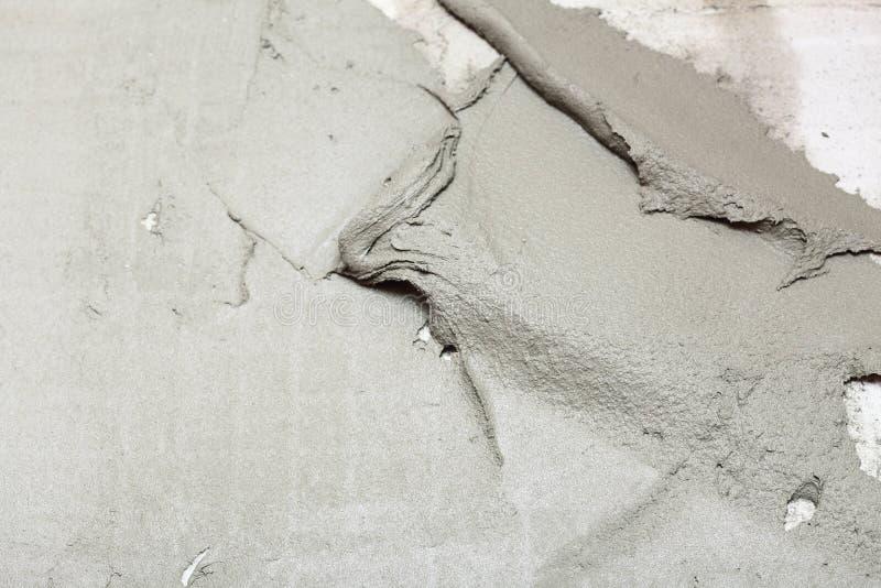 Te astratto del fondo dell'adesivo di costruzione della parete dello stucco del gesso fotografia stock