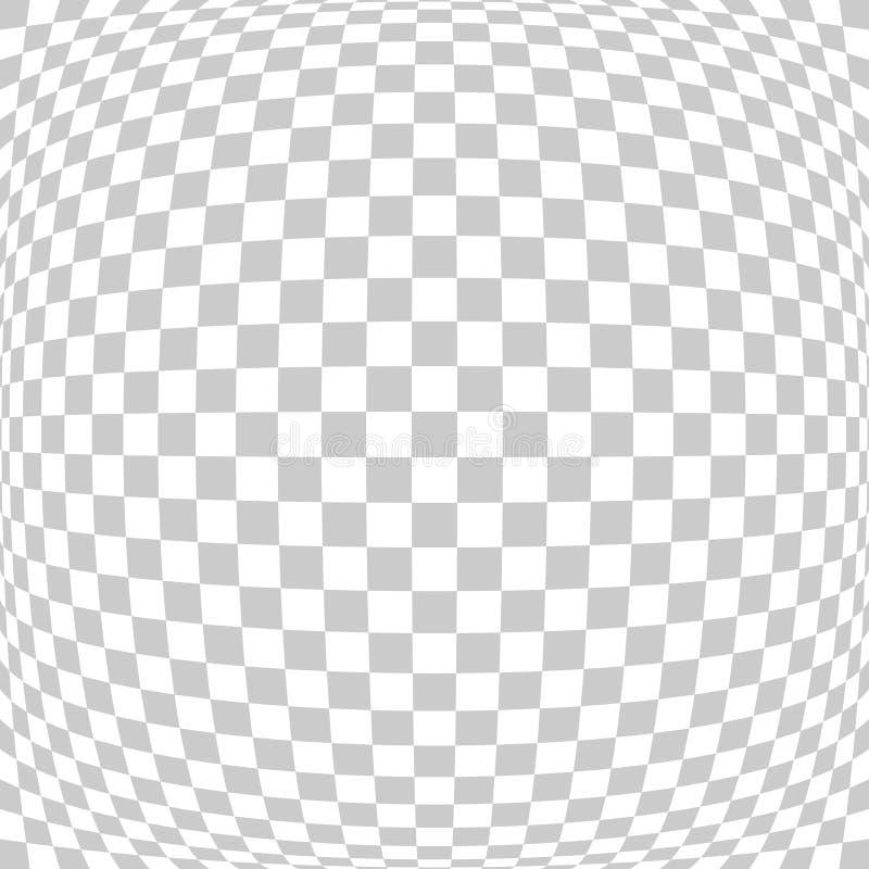 Te branco e cinzento da lente de olho quadrada abstrata dos peixes da perspectiva da telha ilustração royalty free