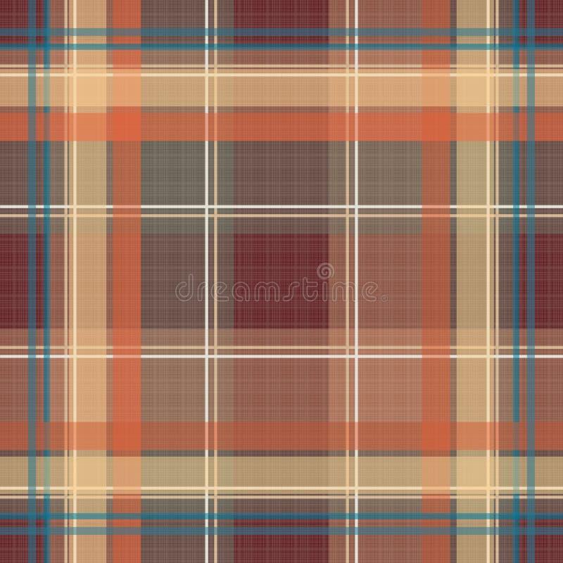 Te a cuadros del modelo de la tela escocesa de la textura del tartán retro inconsútil de la materia textil libre illustration