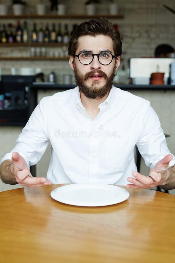 Te eten niets stock foto