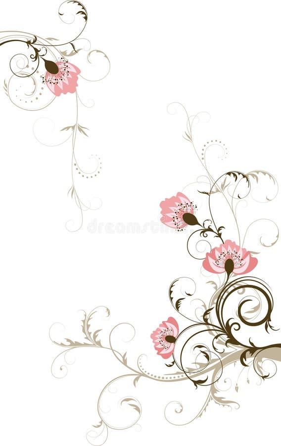 te för fritt avstånd för abstrakt bakgrund din blom- royaltyfri illustrationer