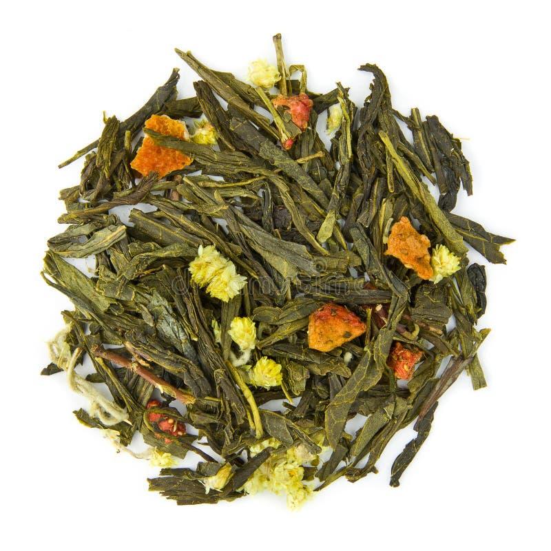 Te för vårdag med Kina Pai Mu Tan och Sencha arkivfoton